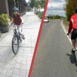 Cu bicicleta – pe trotuar sau pe carosabil?